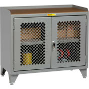 """Little Giant® Clear View Counter Height Bench Cabinet MHP3-LL-2D-2448 - 48"""" x 24"""" Hardboard Top"""