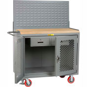 "Little Giant MJP2D-2DRFL-LP 48""W x 24""D Mobile Service Bench, 2 Drawers"