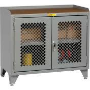 Little Giant® Clear View Counter Height Bench Cabinet MJP3-LL-2D-2448 - 48x24 Butcher Block Top