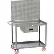 """Little Giant® Mobile Workstation MW2448-5TL-DRPB With Pegboard Panel 24"""" x 48"""" 1 Drawer"""