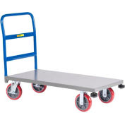 Little Giant® Heavy-Duty Platform Truck with Rolling Corner Bumpers NCB-3060-8PYBK, 30 x 60