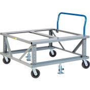 Little Giant® Ergonomic Adj. Height Pallet Stand w/Handle PDEH4248-6PH2FL Open Deck 48x42