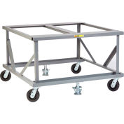 Little Giant® Fixed Height Mobile Pallet Stand PDF-4048-6PH2FL - 48 x 40 Open Deck