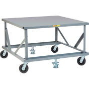 Little Giant® Fixed Height Mobile Pallet Stand PDFS4848-6PH2FL - 48 x 48 Solid Deck