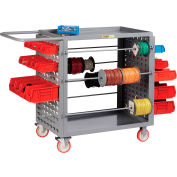 "Little Giant® Wire Reel Cart with Louvered Ends, 24""W x 54.25""L x 41.5""H"