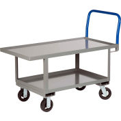 Little Giant® Work Height Platform Truck RNL2-2460-6MR with Lower Shelf 24 x 60 Fixed Height