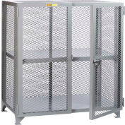 "Little Giant® Welded Storage Locker w/Adjustable Center Shelf, Mesh Sides, 61""W x 33""D x 52""H"