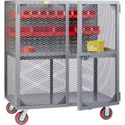 """Little Giant Mobile Tool Security Cabinet SC1-2460-6PY-LP - 60"""" x 24"""", Louvered Panel,1 Center Shelf"""