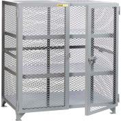 "Little Giant® Welded Storage Locker w/2 Center Shelves, Mesh Sides, 49""W x 27""D x 52""H"