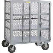 Little Giant® Job Site Security Box Truck with 2 Center Shelves SC2-2460-10SR, 24 x 60