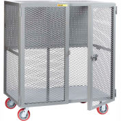 """Little Giant Mobile Tool Security Cabinet SCN-2460-6PY-PB - 60"""" x 24"""", Pegboard Panel"""