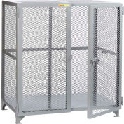 "Little Giant® Welded Storage Locker, Mesh Sides, 61""W x 33""D x 52""H"