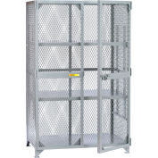 "Little Giant® All-Welded Storage Locker - 3 Adjustable Center Shelves - 61""W x 33""D x 78""H"