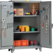 "Little Giant® Pegboard Storage Cabinet SSL2-A-3048-PBD 12 Gauge 48""W x 30""D x 78""H 2 Shelves"