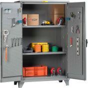 "Little Giant® Pegboard Storage Cabinet SSL2-A-3060-PBD 12 Gauge 60""W x 30""D x 78""H 2 Shelves"
