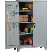 "Little Giant® Pegboard Storage Cabinet SSL3-A-2460-PBD 12 Gauge 60""W x 24""D x 78""H 3 Shelves"
