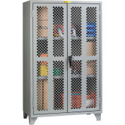 "Little Giant® High Visibility Storage Cabinet w/ 2 Adj. Shelves, 60""W x 32""D x 78""H"