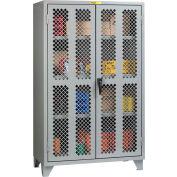"Little Giant® High Visibility Storage Cabinet w/ 3 Adj. Shelves, 60""W x 32""D x 78""H"