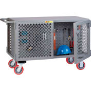 Little Giant 2-Sided Mobile Maintenance Cart ST-2448-6PY-PB - Pegboard Panel, 3600 Lbs. Capacity