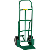 """Little Giant® Shovel Nose Hand Truck TF-360-10 10"""" Rubber with Foot Kick & Continuous Handle"""