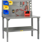"""Little Giant WA-2848-LP 48""""W x 28""""D Welded Workbench with Backstops and Adj. Height"""