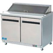 """Arctic Air AMT60R - Sandwich/Salad Prep Table, 2 Door, White, 15.5 Cu. Ft., 61-1/4""""W x 43-1/4""""H"""
