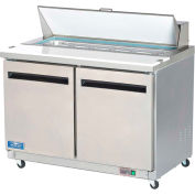 "Arctic Air AST48R - Sandwich/Salad Prep Table, 2 Door, White, 12 Cu. Ft., 48-1/4""W x 43-1/3""H"