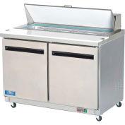 "Arctic Air AST48R - Sandwich/Salad Prep Refrigerator, 2 Door, White, 12 Cu. Ft., 48-1/4""W x 43-1/3""H"