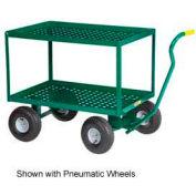 "Little Giant® 2 Shelf Wagon Truck 2LDWP-2448-10-G 24 x 48 10"" Rubber Wheels"