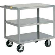 Little Giant® HD Welded Shelf Truck 3G-2448-6PHBK, 3 Flush Shelves, 24 x 48