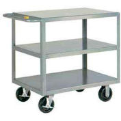 Little Giant® HD Welded Shelf Truck 3GL-2436-6PHBK, 3 Lip Shelves, 24 x 36