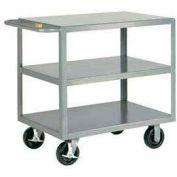 Little Giant® HD Welded Shelf Truck 3GL-2436-6PHBK, 3 Lip Shelves, 24 x 36