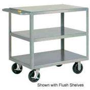Little Giant® HD Welded Shelf Truck 3GL-3048-6PHBK, 3 Lip Shelves, 30 x 48