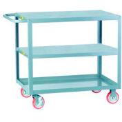 Little Giant® All Welded Service Cart 3LG-1832-BRK, 3 Flush Top & Middle, 18 x 32