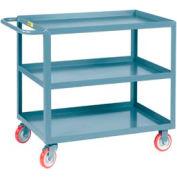 Little Giant® All Welded Service Cart 3LGL-3048-BRK, 3 Lip Shelves, 30 x 48