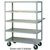 Little Giant® Multi-Shelf Truck 3M-2448-6PH, 3 Flush Shelves, 24 x 48