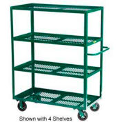 Little Giant® Multi-Shelf Nursery Cart 3MLP-2448-6MR-G, 3 Shelf, 24 x 48