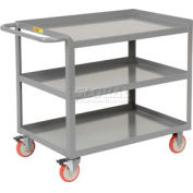 Little Giant® Mobile Workstation 3MW-2448-5TL, 3 Shelf, 24 x 48