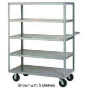 Little Giant® Multi-Shelf Truck 4M-3060-6PH, 4 Flush Shelves, 30 x 60