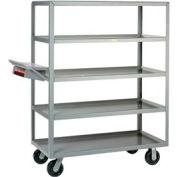 Little Giant® Multi-Shelf Truck 5ML-2448-6PH-WSP, 5 Lip Shelves 24x48 Writing Shelf Pocket