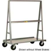 """Little Giant® """"A"""" Frame Sheet & Panel Truck AF2448-BK, 24 x 48 with Brake Wheels"""