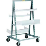 Little Giant® A-Frame Adjustable Tray Shelf Truck AFS-3640-6PH, Double-Sided