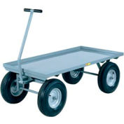 Little Giant® Wagon Truck CH-2448-12P Lip Deck 24x48 Pneumatic Wheels, 2000 Lb. Capacity