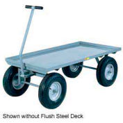 Little Giant® Wagon Truck CH-3672-12PFSD - Flush Deck - 36 x 72 - Pneumatic Wheels - 2000 Lb.