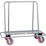 Little Giant® Drywall Cart w/Steel Bumper Frame, 2000 lb, 26x54x51, 8x2 Swivel Poly Wheels