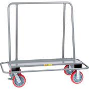 Little Giant® Drywall Cart w/Steel Bumper Frame, 2000 lb, 26x54x51, 8x2, Poly Wheels, Floor Lck