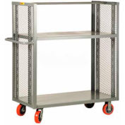 Little Giant® 2-Sided Adjustable Shelf Truck DET2-A-3060-6PY, 30 x 60