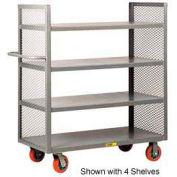 Little Giant® 2-Sided Shelf Truck DET3-2460-6PY, 3 Shelves, 24 x 60