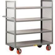 Little Giant® 2-Sided Shelf Truck DET4-2460-6PY, 4 Shelves, 24 x 60