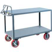Little Giant® Welded Shelf Truck ERG-3060-8PYBK, Flush Shelves, 30 x 60